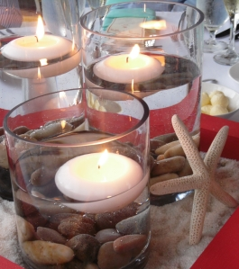 Use candles, sea shells, and starfish to set the mood for your Language of Thorns book club.